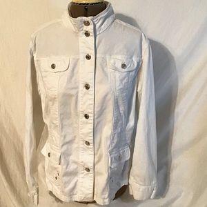 Jones New York White jean Jacket  size XL